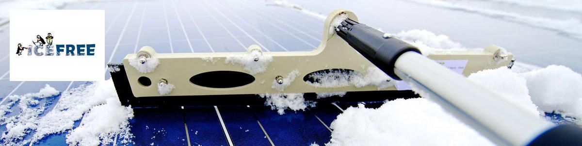 Curatare zapada parcuri solare